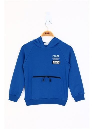 Toontoy Kids Toontoy Erkek Çocuk Black Armalı Sweatshirt Saks